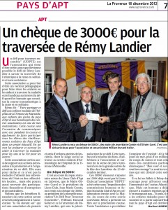 Article La Provence 16 décembre 2012