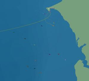 Rémy (en jaune orange) suit la tendance générale : un retour vers les côtes africaines
