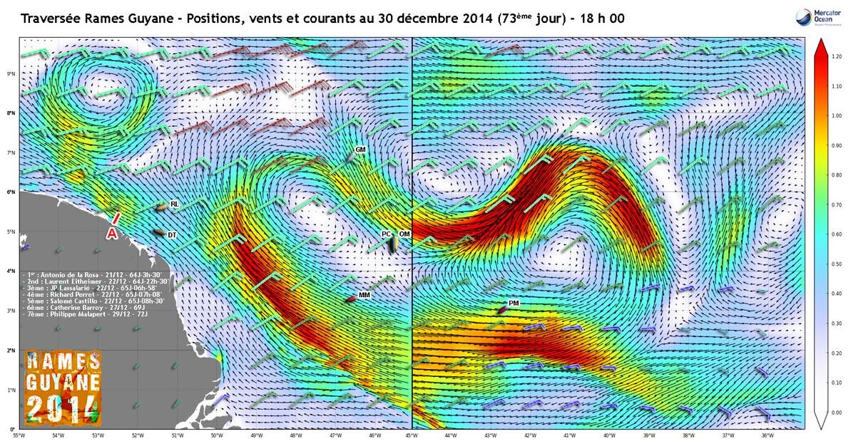 Positions, vents et courants au 30 décembre